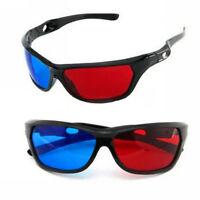 3D Glasses Red Blue Black Frame For Dimensional Anaglyph TV Movie DVD Game JT
