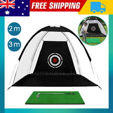 2/3M Golf Practice Net Hitting Net Driving Netting Chipping Cage Training Aid AU