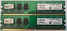 Desktop RAM DDR2, 2GB (2x1GB) Crucial PC2-6400 800 Mhz 240-Pin CT12864AA800.M8FM