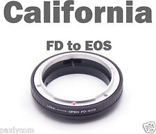 FD to EOS Canon EF S Body Mount 20 30 40 300 350 400 450 1000 D XT xsi No Glass