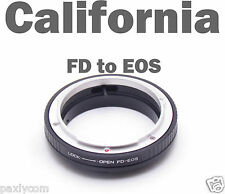 Macro FD Mount Lens to Canon EOS 650D 600D 550D 60D 50D 5D 7DEF Adapter No Glass