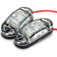 2x12V 24V LED Car Side Marker Indicators Lights for Truck Trailer Bus Lamp Light