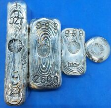 More details for hand poured .999 fine silver hand poured. 10oz, 250g, 100g and 1oz