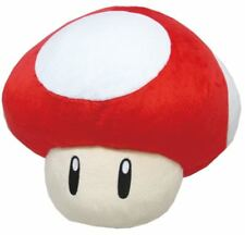 "Little Buddy USA Super Mario Series 11"" Large 1UP Red Mushroom Pillow Plush"