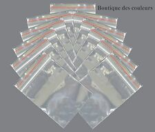 100 SACHETS TRANSPARENT FERMETURE ZIP 110x75mm