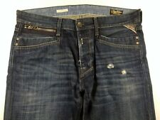 S496 REPLAY FRANKY GO faded denim jeans pants trousers size 34/32, great cond!