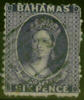 Bahamas 1863 6d Lilac SG30 Fine Used Stamp