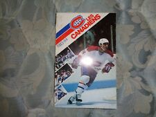 1983-84 MONTREAL CANADIENS MEDIA GUIDE 1984 NHL Yearbook Program Press Book AD