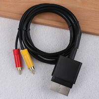 1.8M audio video AV RCA video composite cable cord for xbox 360 slim gamepad FBH