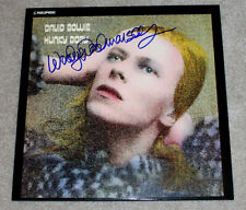 WOODY WOODMANSEY SIGNED DAVID BOWIE 'HUNKY DORY' VINYL RECORD LP w/COA DRUMMER