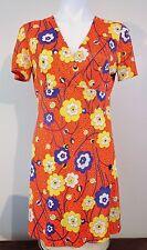 Adorable Excellent Condition Sweet Floral Vintage 1970's Mini Dress-Cap Sleeves