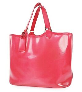 Auth LOUIS VUITTON Lagoon Bay Red Epi Vinyl Beach Tote Bag and Pouch #37999