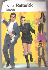 Butterick 6754 Austin Powers, Mod Groovy 60's Hippie Clothes Adult Sizes XS - XL