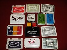 Stampin' Up! & Others lot of 15 Ink Pads Hobby Craft Rubber Stamp Watermark