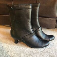 """Pazzo Link 2.5"""" High Heel Ankle Leather Boots Black US Size 9.5 Booties"""