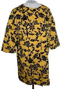 Appraisal Golden Yellow & Black button front longer blazer jacket XL