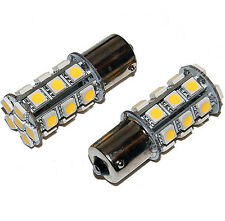 2PCS 1156 BA15S Car 27 5050 SMD LED Bulb Light Lamp Warm White 280 12V 3000K RV