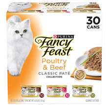 Purina Fancy Feast Natural Wet Cat Food Variety Pack Classic Pate 30 Cans