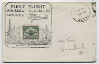 1920 CaM 32 flight with C4 airmail in cachet [y4565]