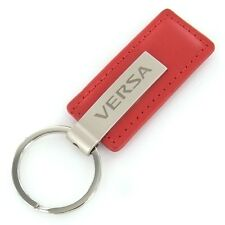 Nissan Versa Red Leather Rectangular Key Chain