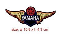 YAMAHA Patch Wing Iron/Sew On Motorcycle Biker Racing Embroidered