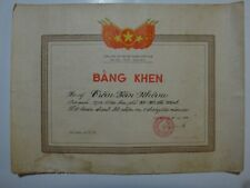 Socialist Republic OF Vietnam Military CERTIFICATE OF COMMENDATION Year 1982