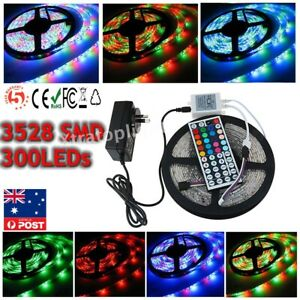 3528 LED Strip Lights 300 LEDs 5/10/15M Tape RGB/Warm/Cool White Remote/Adapter