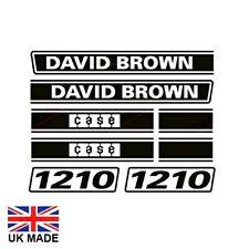 DECAL SET FITS DAVID BROWN 1210 TRACTORS.