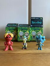 Teddy Rick, Poopy butthole, Red Meeseek Rick Morty Mystery Minis Bundle Funko