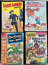 Collection Of 8 Vintage Comic Books From The Late 1940's Into The Early 1950's