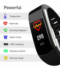 2020 Smart Watch Body Temperature Heart Rate Blood Pressure Fitness Monitor New
