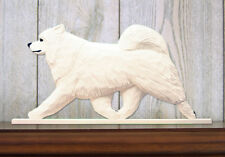 Samoyed Figurine Sign Plaque Display Wall Decoration