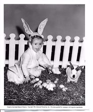 "Baby Sandy Alexandra Lee Henville ""Bachelor Daddy"" 1941 photo Easter Bunny 8x10"