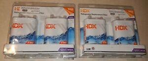 LOT OF 4 NEW HDX - FRIGIDAIRE W2FCB PREMIUM WATER FILTERS - FMF-7