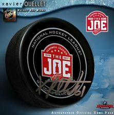 XAVIER OUELLET Signed Detroit Red Wings Farewell to the Joe Official Game Puck