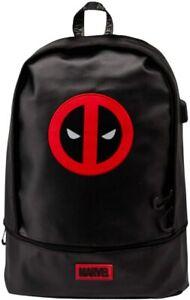 OFFICIAL MARVEL DEADPOOL URBAN USB PREMIUM BACKPACK RUCKSACK SCHOOL BAG BNWT *
