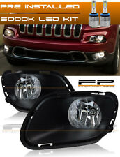 For 2014 - 2017 Jeep Cherokee Clear Fog Lights Full Complete Kit Wiring + LED