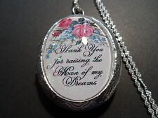 "THANK YOU FOR RAISING THE MAN OF MY DREAMS  LOCKET 26"" CHAIN"