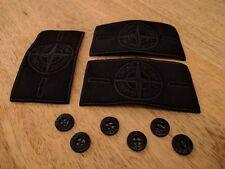 3 BLACK STONE ISLAND badge patch CON 6 PULSANTI