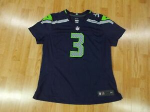 RUSSELL WILSON 3 Seattle Seahawks NFL JERSEY Reebok Womens XL