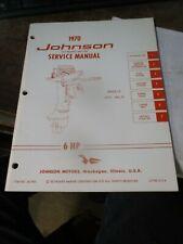1970 Johnson Outboard JM-7003 Factory Service Shop Manual Book 6HP