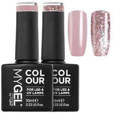 MYGEL Mylee Gel Nail Polish Pink & Glitter Colour Set 2x10ml, UV LED Manicure