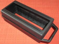 BLACK OPEN TOP AUDIO CASSETTE TAPE STORAGE BOX/CARRY CASE FOR 12 TAPES