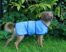 Medium Large Aquamat Cooling Chiller CHIEN Dog Coat, 55cm ML, Jacket Blue Summer