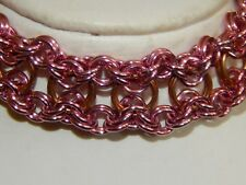 & Anodised Aluminium Bracelet Hand-made Chain Maille Solid Bronze
