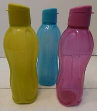 LOT Of 3 25 OZ TUPPERWARE ECO WATER SPORTS BOTTLES GREEN PINK TEAL BLUE