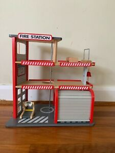 Kids wooden play fire station ~ Pottery Barn