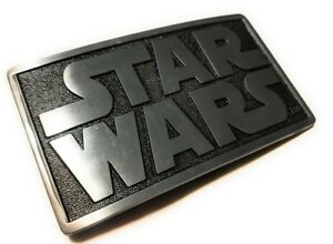 Original STAR WARS metal logo belt buckle Pewter color Cosplay DArth vader luke