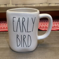 Rae Dunn By Magenta - LL EARLY BIRD - White Ceramic Coffee Mug