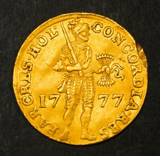 1777, Netherlands, Holland (Province). Beautiful Gold Knight Ducat Coin. 3.45gm!